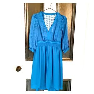 Fabulous Anthropologie deep turquoise midi dress